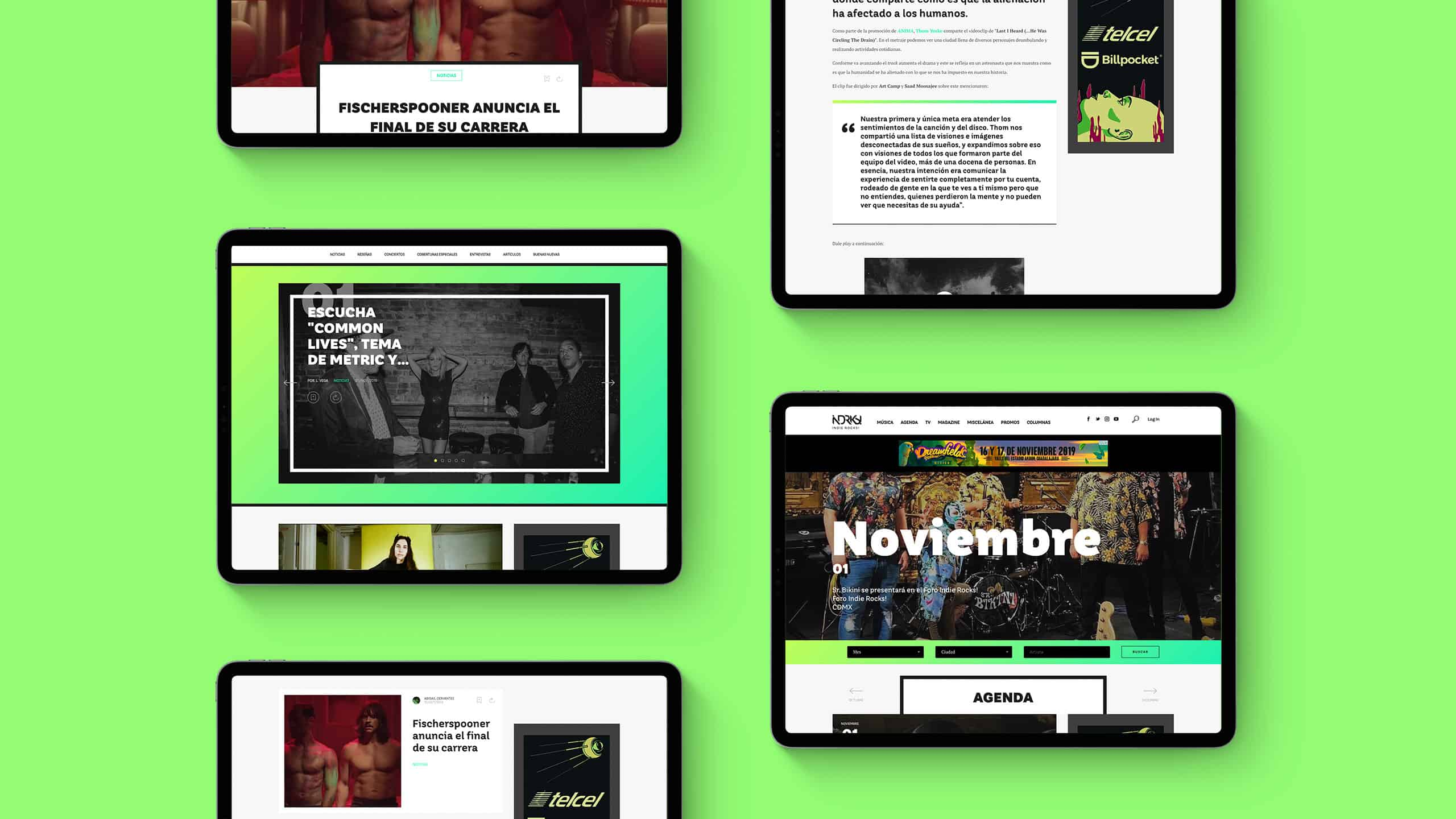 Web Design for Indie Rocks! Mexico